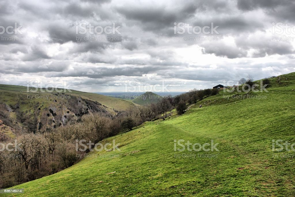 Dovedale in the Peak District National Park stock photo