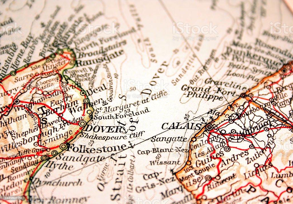 Dover and Calais stock photo