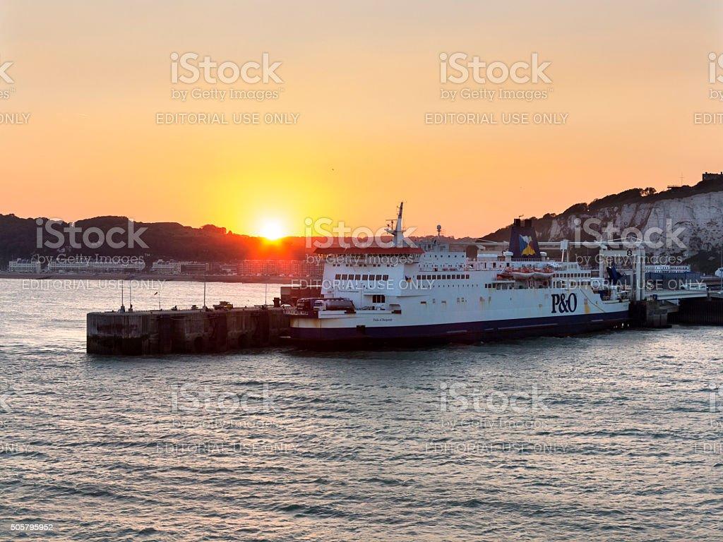 Dover Ferry Port, England stock photo