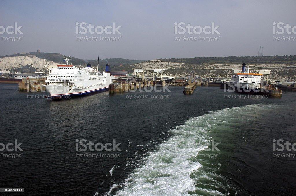Dover port stock photo