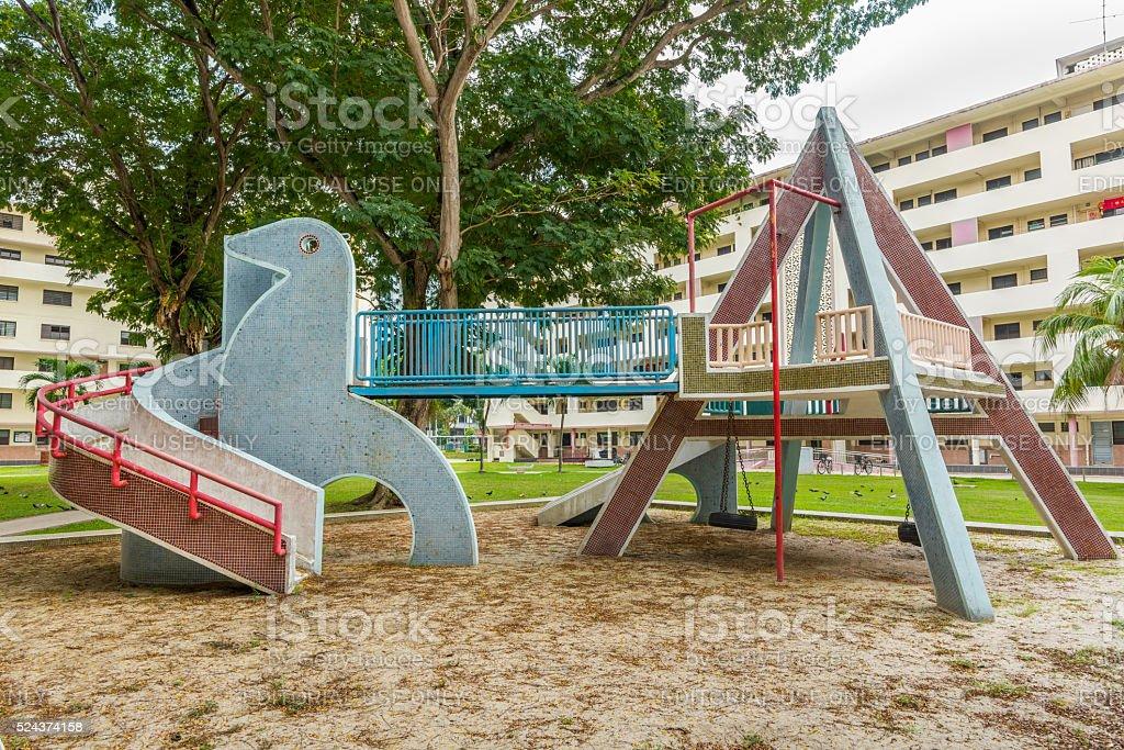 Doves mosaic playground stock photo