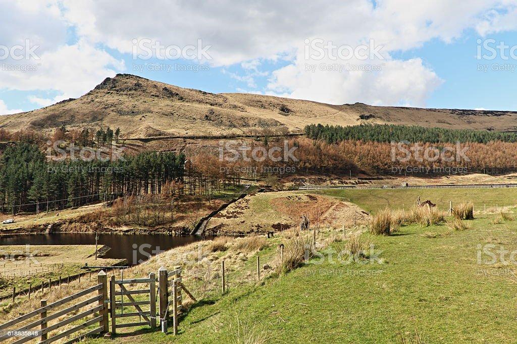 Dovestone Reservoir Garden of Remembrance stock photo