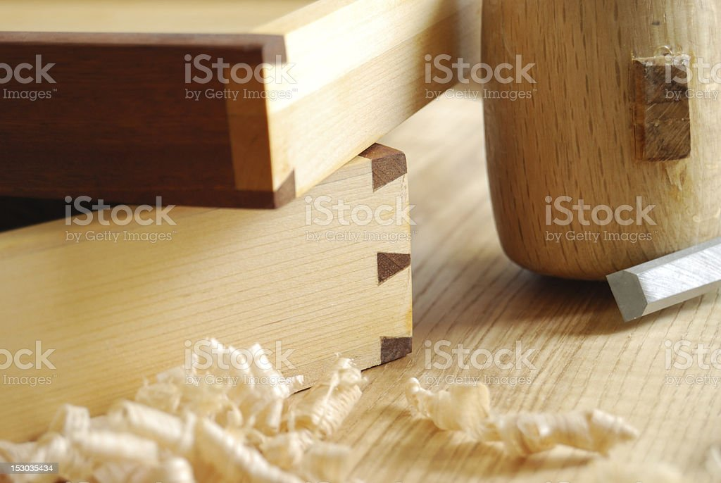 Dovetailed joint royalty-free stock photo