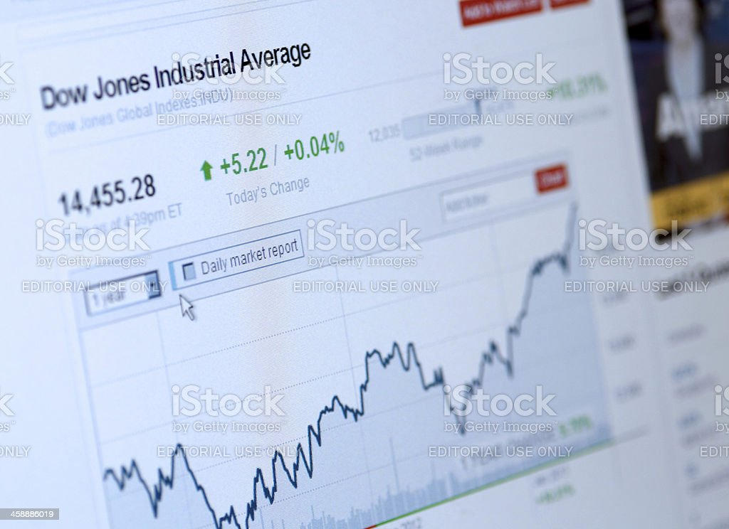 Dow Jones Industrial Average stock photo