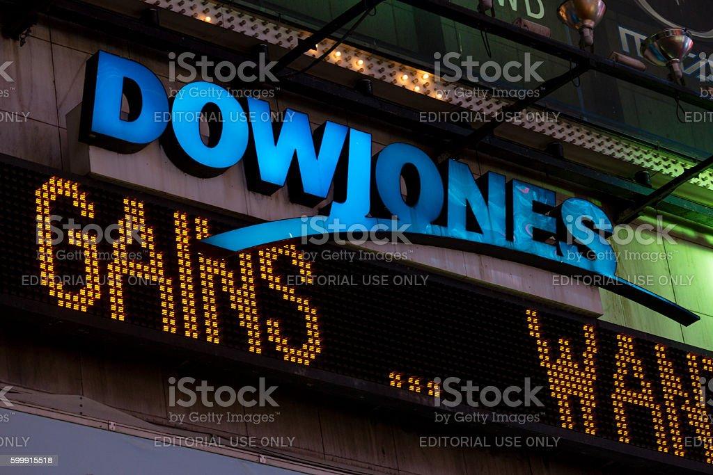 Dow Jones stock photo
