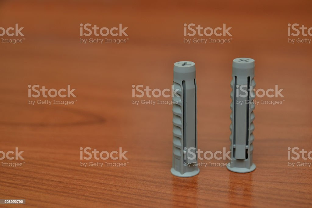 dowel, wall-plug stock photo