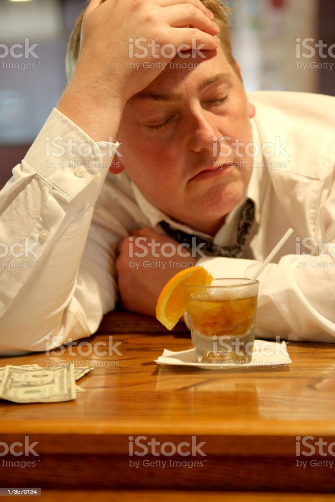Down and out. royalty-free stock photo