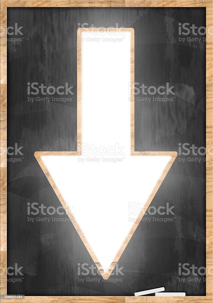 Down Arrow / Blackboard concept (Click for more) stock photo