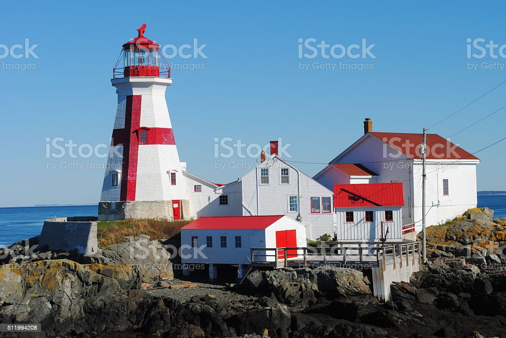'Down East' East Quoddy Lighthouse stock photo