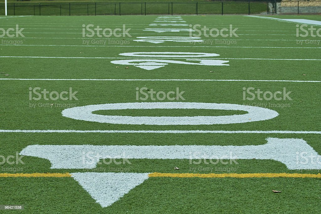 Down Field royalty-free stock photo