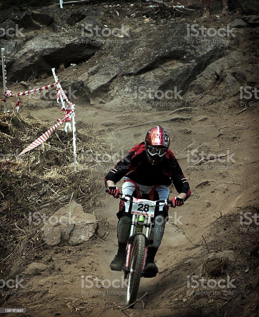 Down Hill Mountain Biking royalty-free stock photo