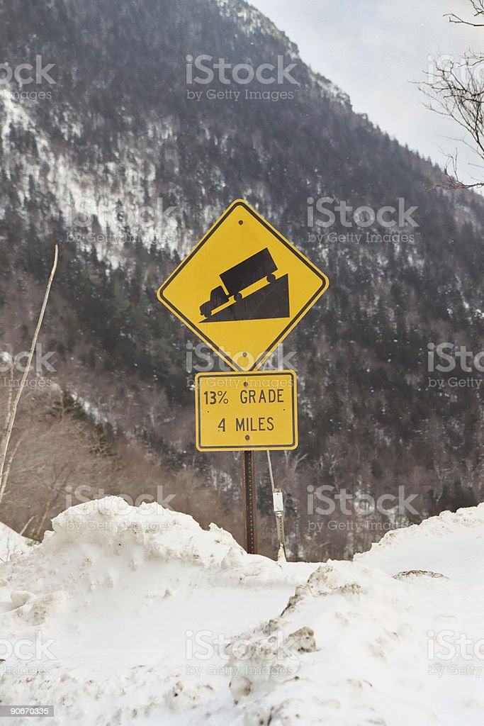 Down hill royalty-free stock photo