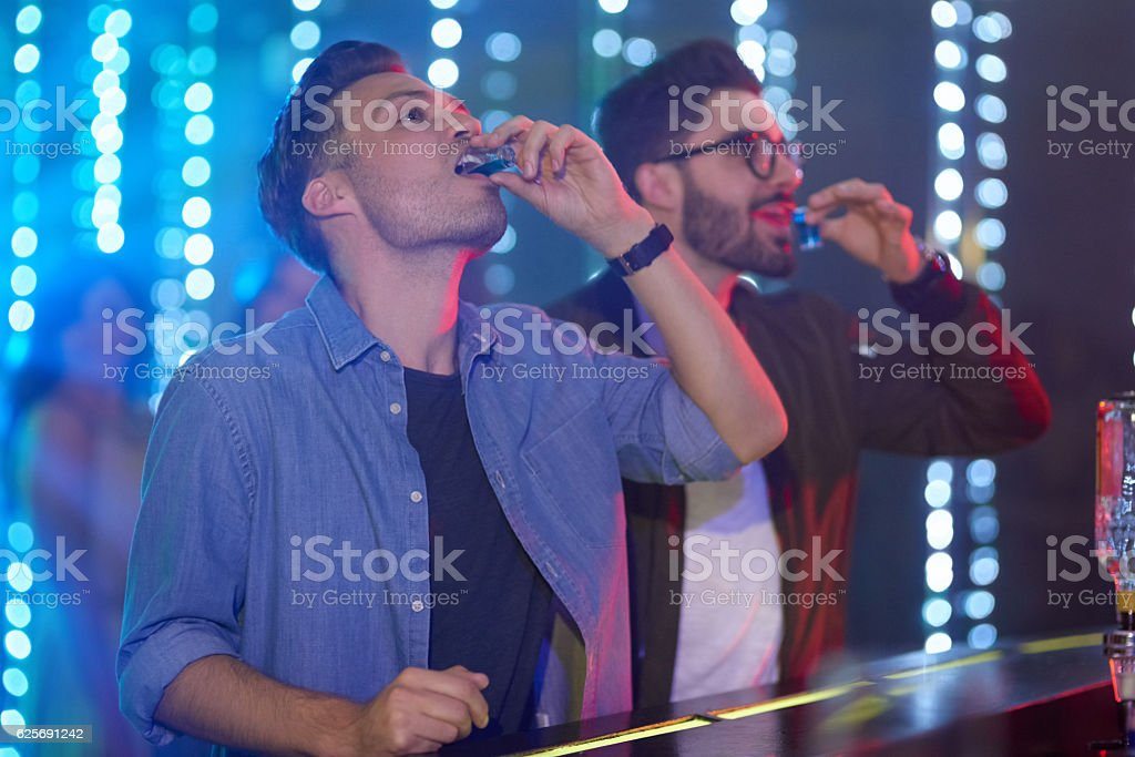 Down in one! stock photo