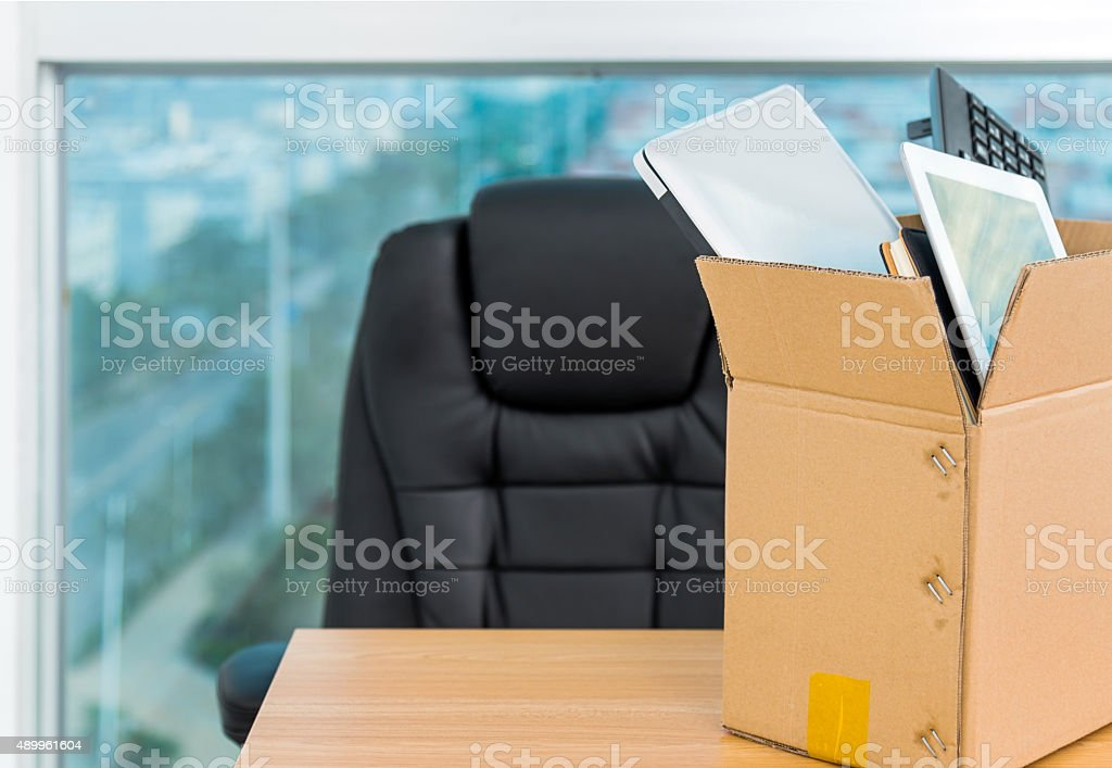 Down sizing concept stock photo