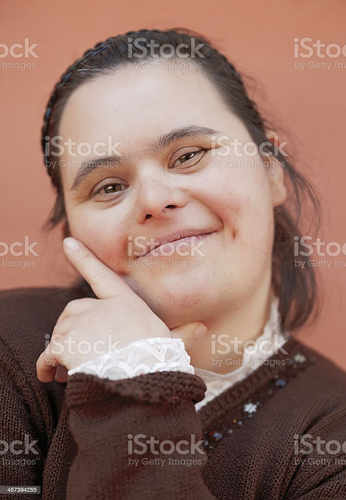 Down Syndrome Girl royalty-free stock photo