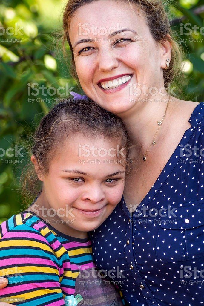 Down Syndrome Girl stock photo