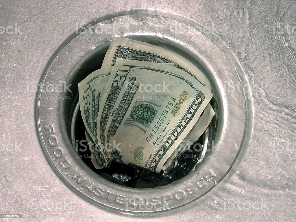 Down the Drain Wet (3 of 4) royalty-free stock photo