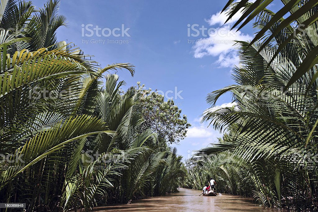 Down the Mekong river royalty-free stock photo