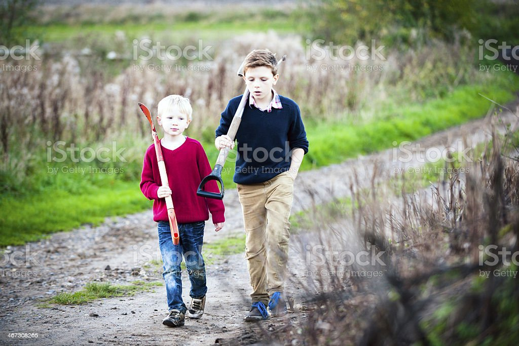 Down The Path We Go royalty-free stock photo