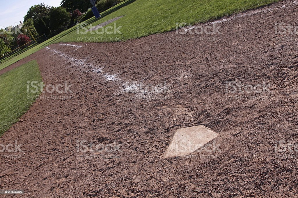 Down the Right Field Line royalty-free stock photo