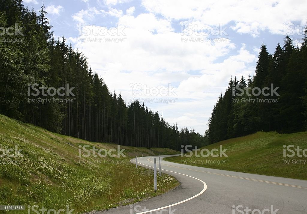 Down the road again royalty-free stock photo
