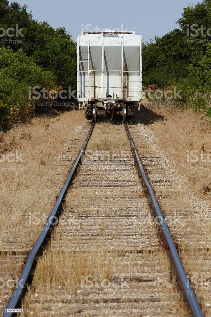 Down the track royalty-free stock photo