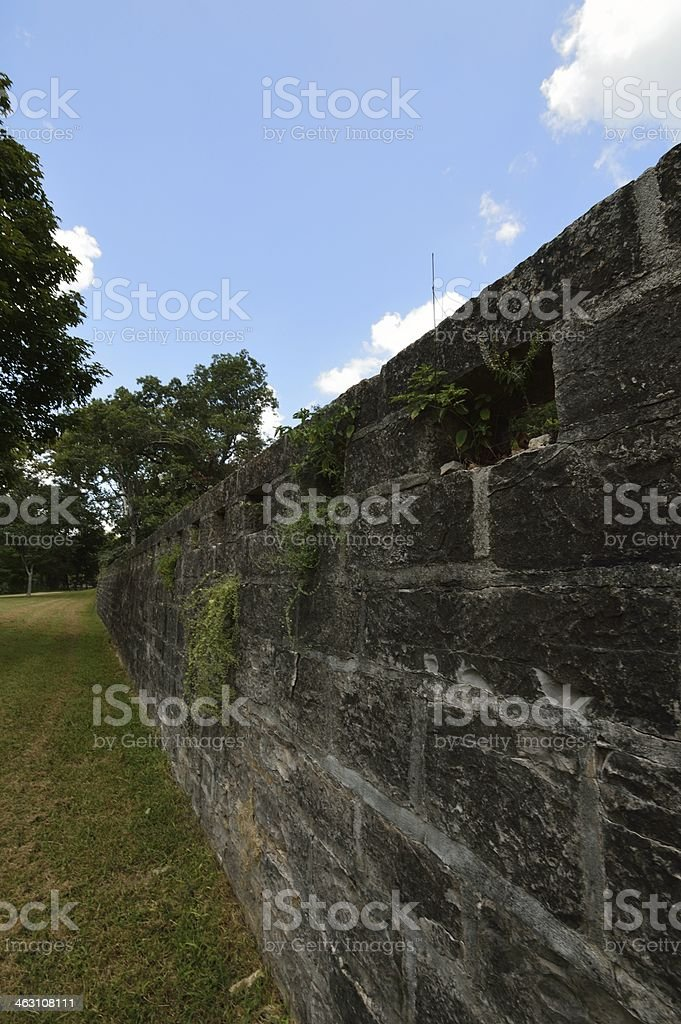 Down the Wall stock photo