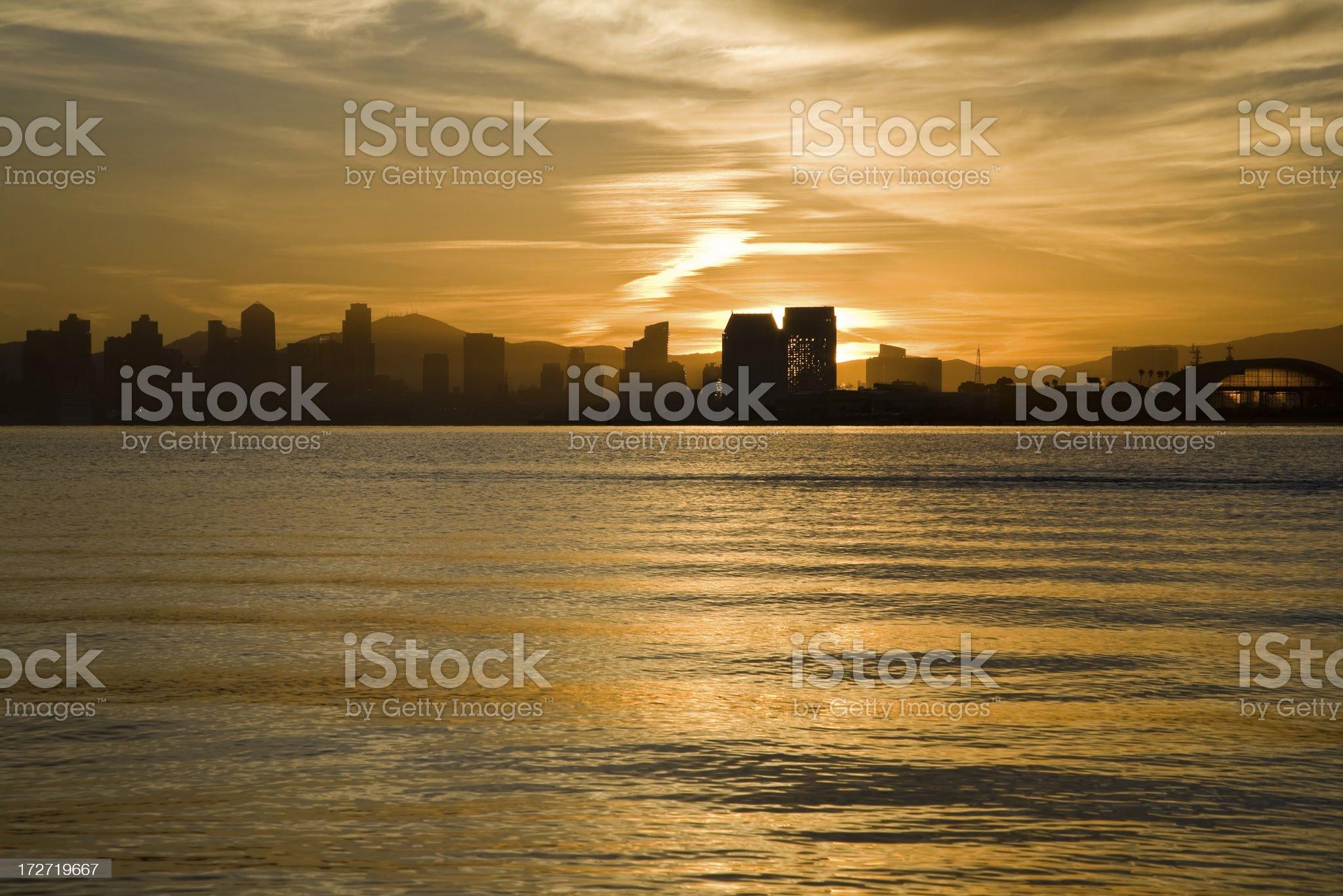 Down Town San Diego royalty-free stock photo