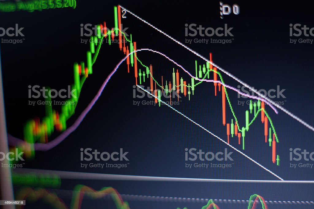 down trend channel stock photo