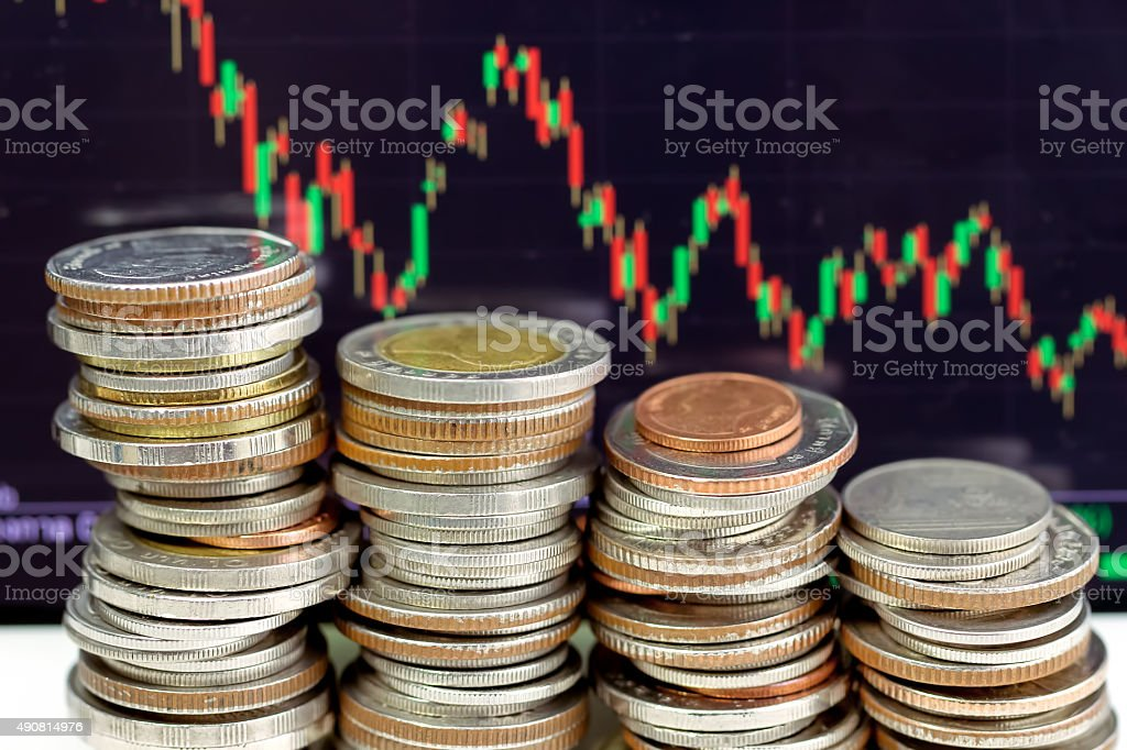 Down trend in finance market stock photo