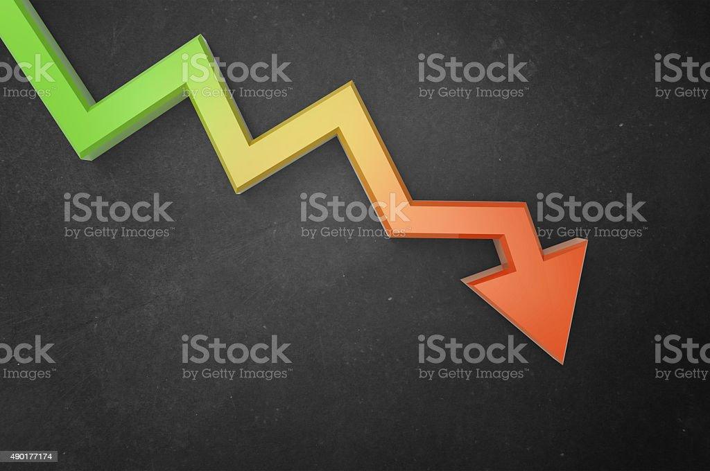 Down Trend stock photo
