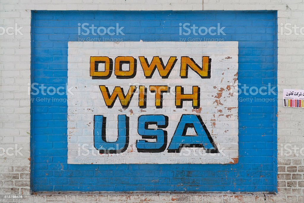 Down with USA stock photo