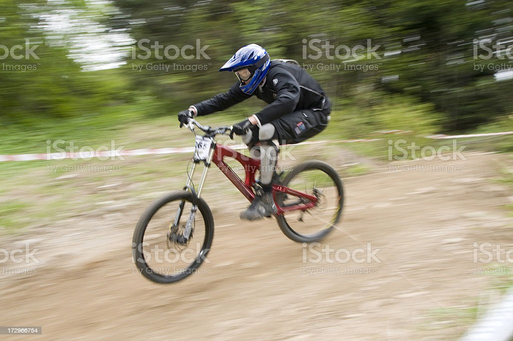 Downhill Action royalty-free stock photo