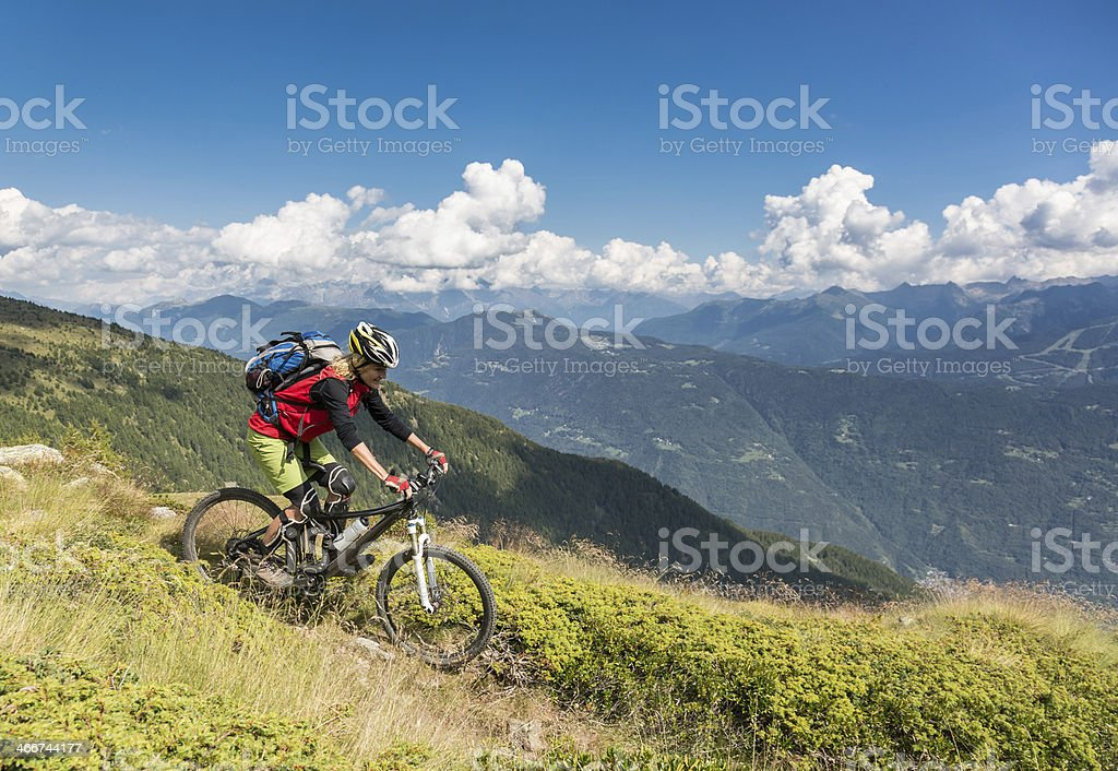 Downhill from Col d'Anzana, Italy royalty-free stock photo
