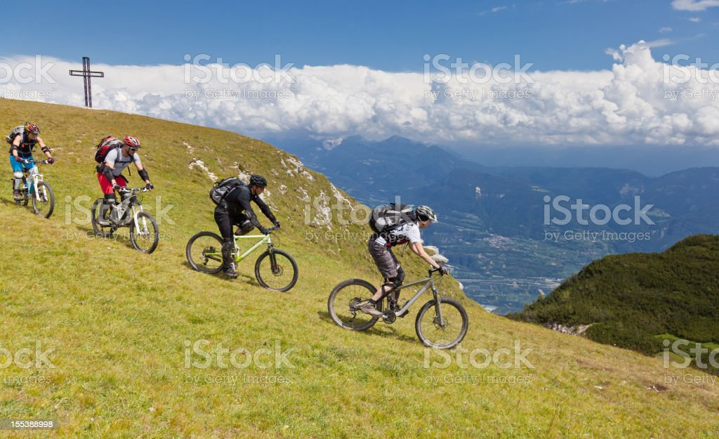 Downhill from the summit, South Tyrol royalty-free stock photo