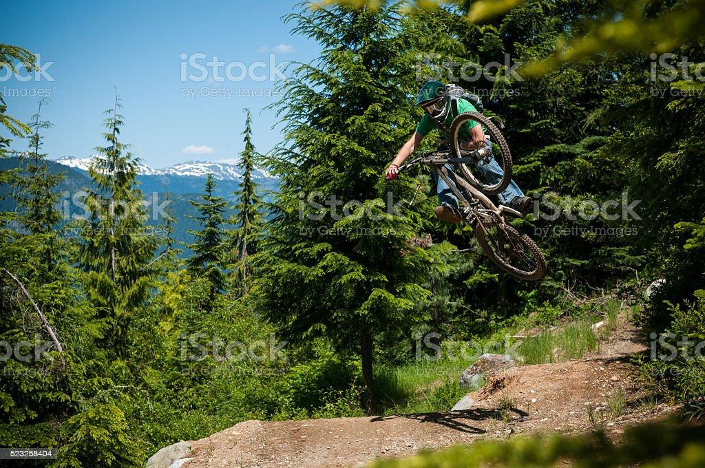 Downhill Mounatin Biking stock photo