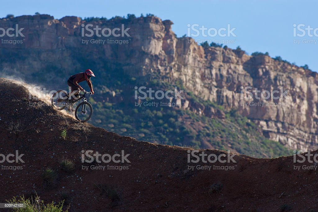 Downhill Mountain Bike Utah stock photo