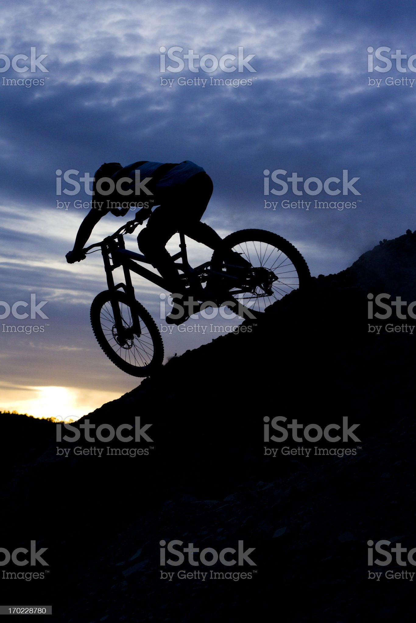 Downhill Mountain Biking royalty-free stock photo