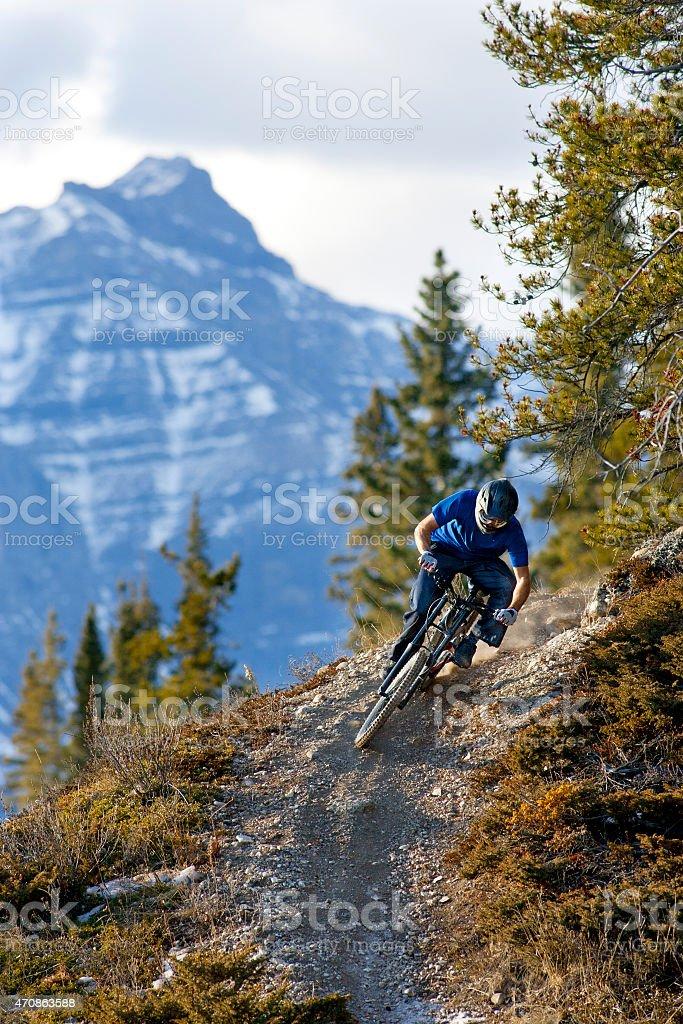 Downhill Mountain Biking stock photo
