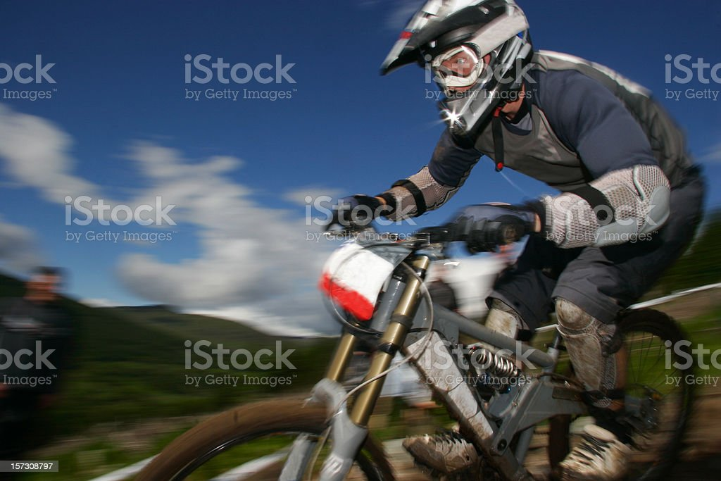 Downhill race royalty-free stock photo