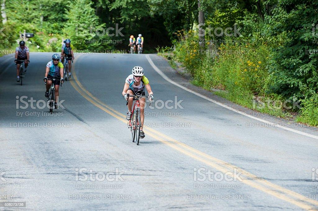 Downhill racer stock photo