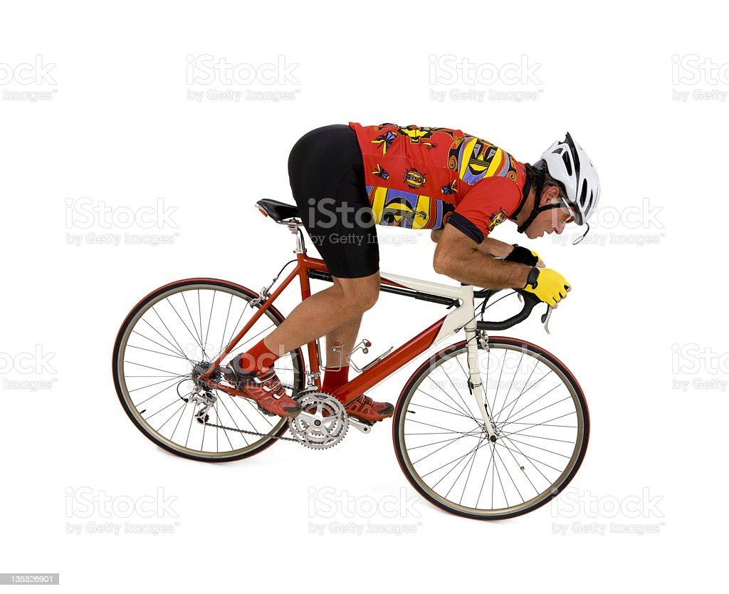 Downhill Rider stock photo