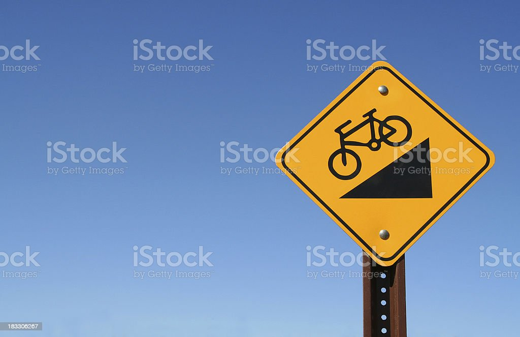 Downhill Sign royalty-free stock photo