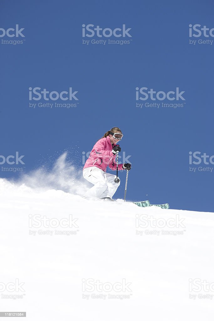 Downhill Skier In Action royalty-free stock photo