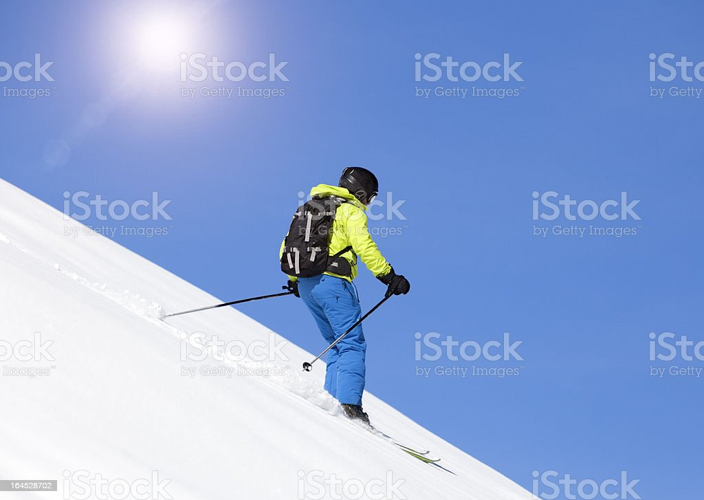 Downhill Skier royalty-free stock photo