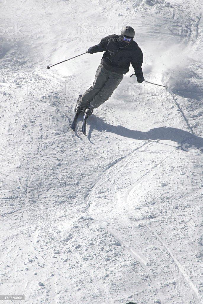 Downhill Skier royalty-free stock photo