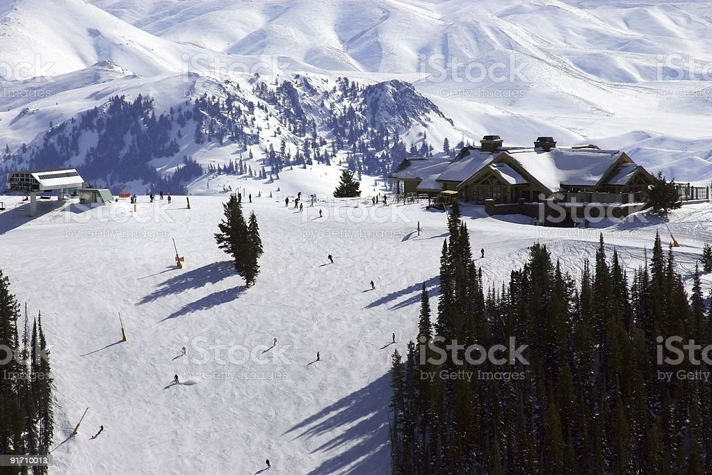 Downhill Skiing royalty-free stock photo
