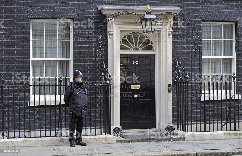 Downing Street bobby stock photo