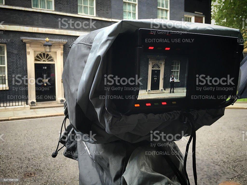 Downing Street Camera stock photo