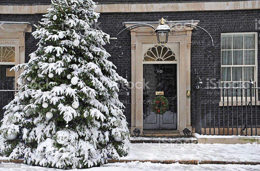 Downing Street Christmas stock photo